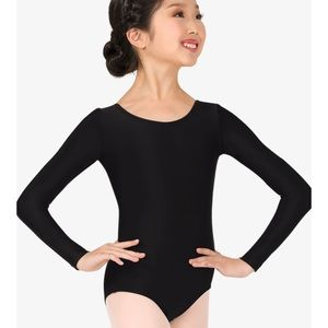 Body Wrappers Girls Long Sleeve Leotard Dance 8 10